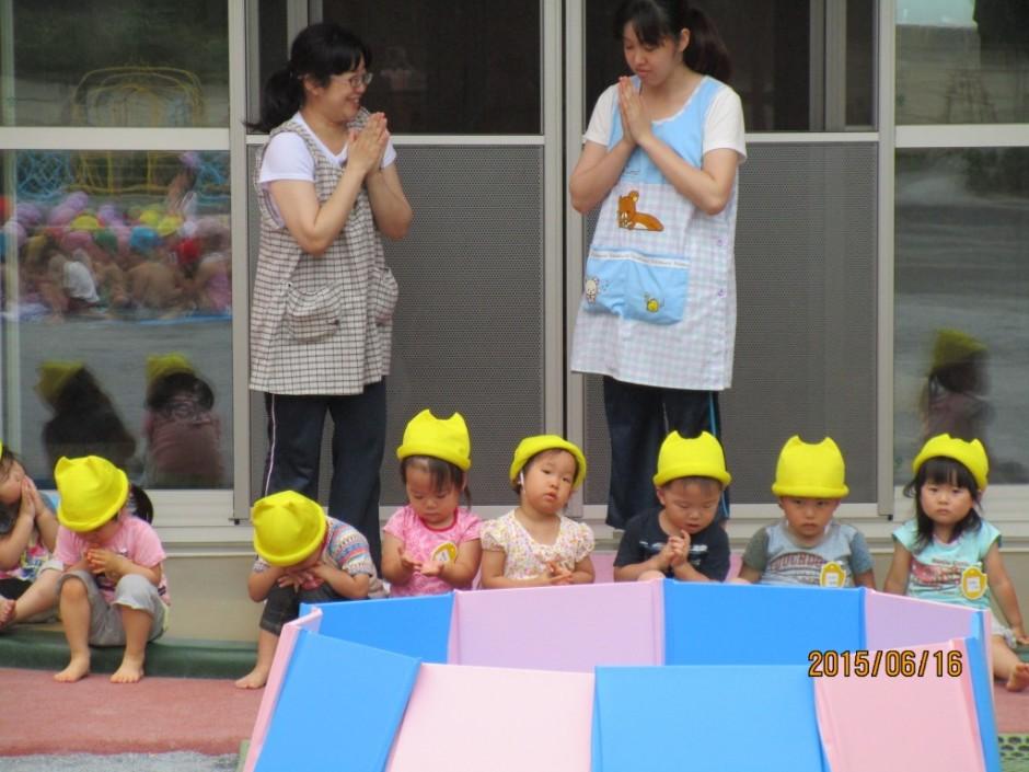 6月16日プール開き 保育園も一緒にプール開きを行いました。
