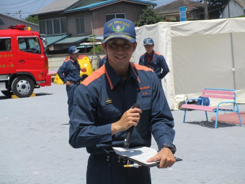 防火講習6月20日 防火講習の説明をしてくださりました消防署の小林さんです。