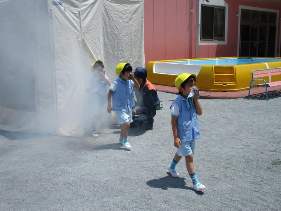 防火講習6月20日 上手に避難できましたね。
