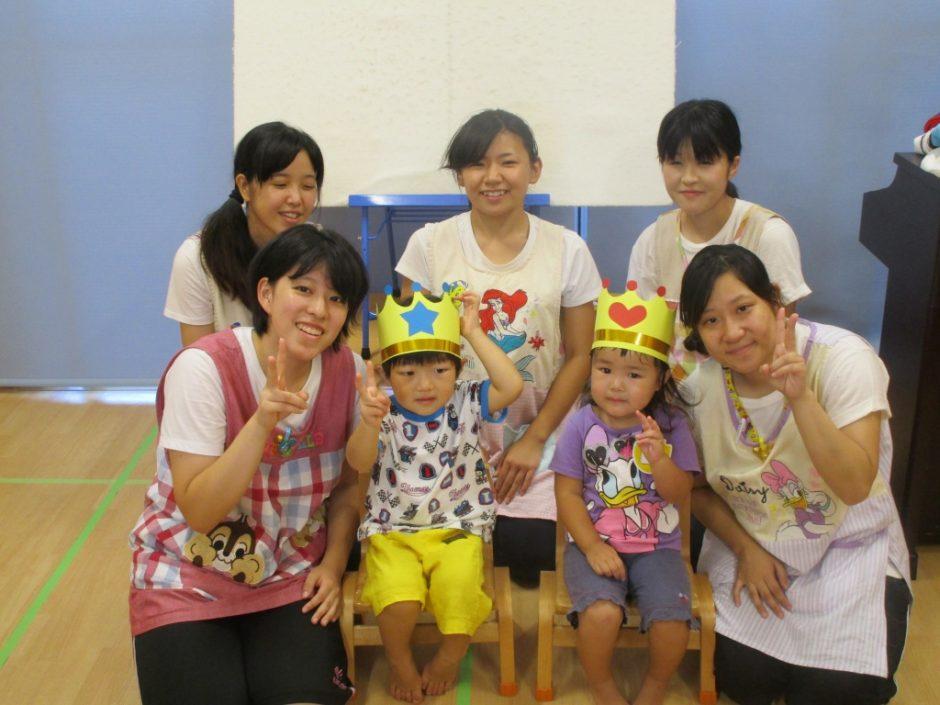 9月お誕生会 ひばり組の2人!3歳のお誕生日おめでとう!!