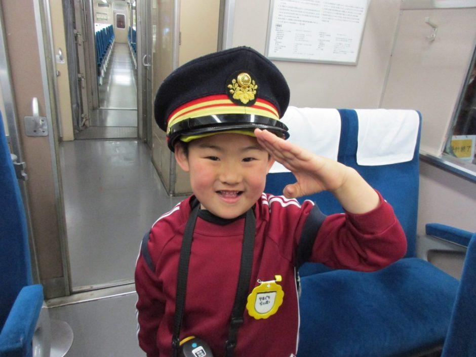 お別れ遠足 大宮鉄道博物館 かっこいい車掌さんですね。