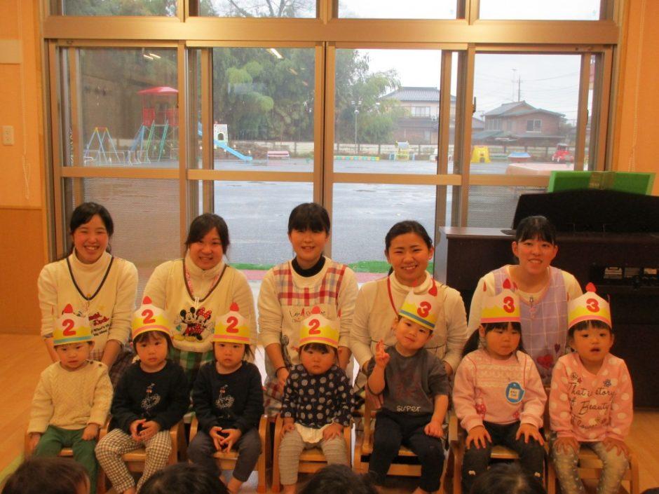 3月 お誕生会 保育園部さんは7人のお友達がお誕生日でした☆