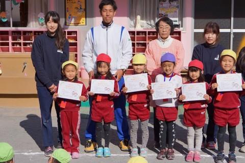 2015.1 マラソン大会 きく女の子表彰式