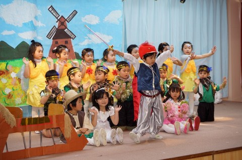 2015.2  ひな祭りおゆうぎ会(午前の部) ゆり1 劇「ドン・キホーテのぼうけん物語」