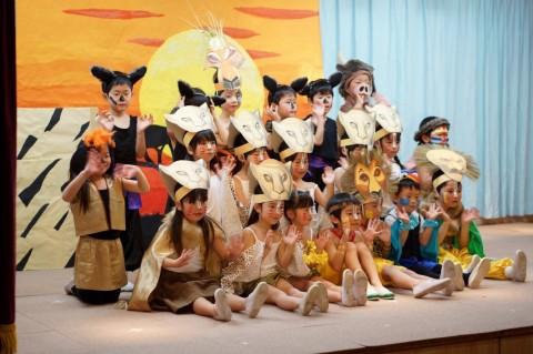 ひな祭りおゆうぎ会(午前の部) きく3 ことば劇 「ライオンキング」
