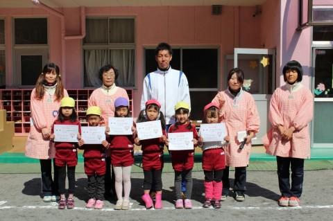なわとび大会(年長・平成25年度) 1位から6位までの表彰式!女の子