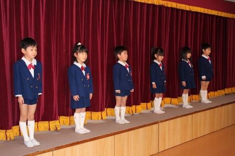 2015.2  ひな祭りおゆうぎ会(午前の部) 園児あいさつ