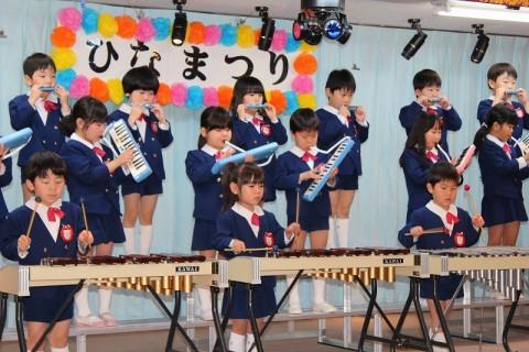 2015.2  ひな祭りおゆうぎ会(午前の部) きく2 うたと合奏 手話
