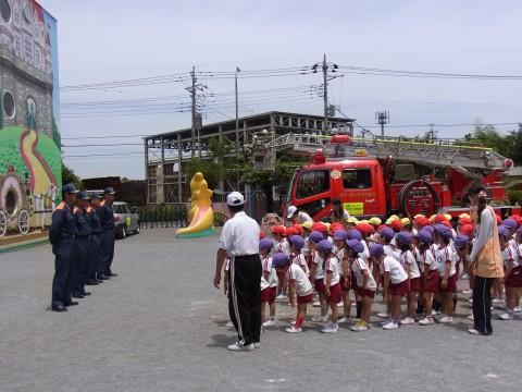 防火講習会(2) 消防署の方々にお礼を言って「防火講習会」が終わりました