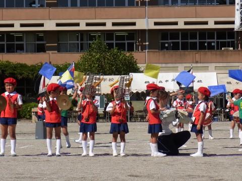 鶴西祭鼓隊(鶴ヶ島市立西中学校にて)