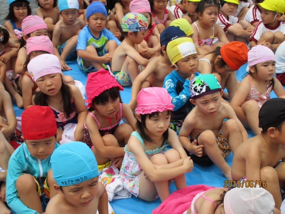 6月16日プール開き 早くプールに入りたいな。