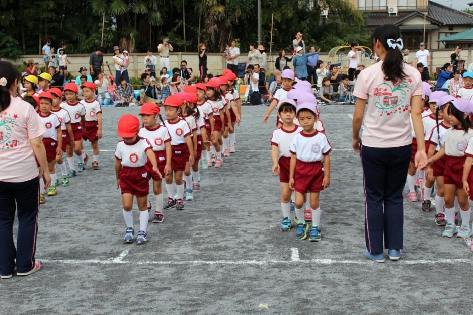 27年運動会 27年しらゆり幼稚園運動会の開会いたします。