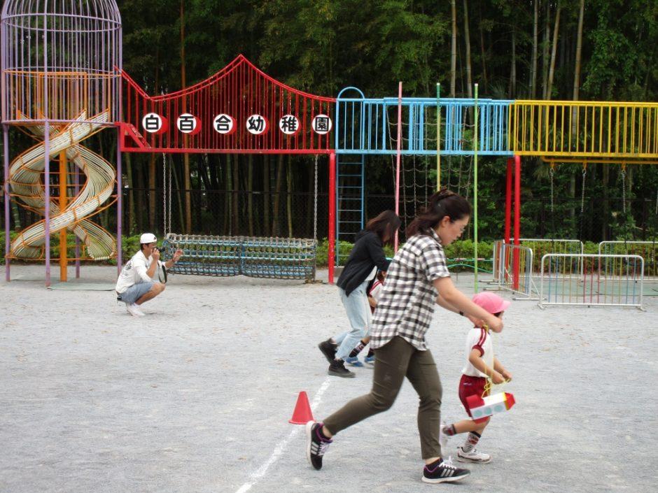 保育参観が行われました。6月7~9日 レクリエーションは園庭でロケットリレーでゆり組とさくら組と競争しました。