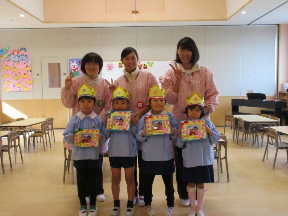 12月お誕生会 年長さんは 4人です(^-^)