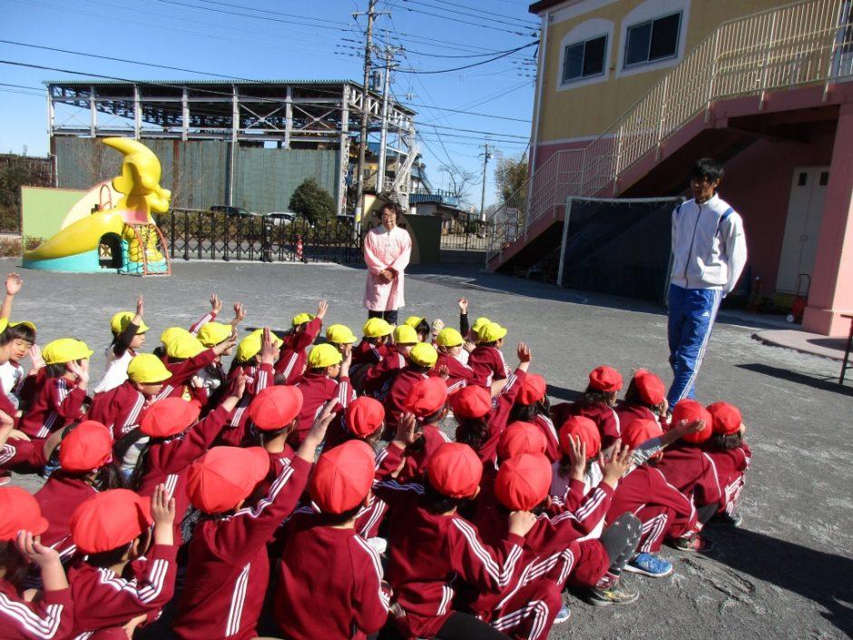 なわとび大会 園長先生、岡﨑先生からも お褒めの言葉を頂きました。