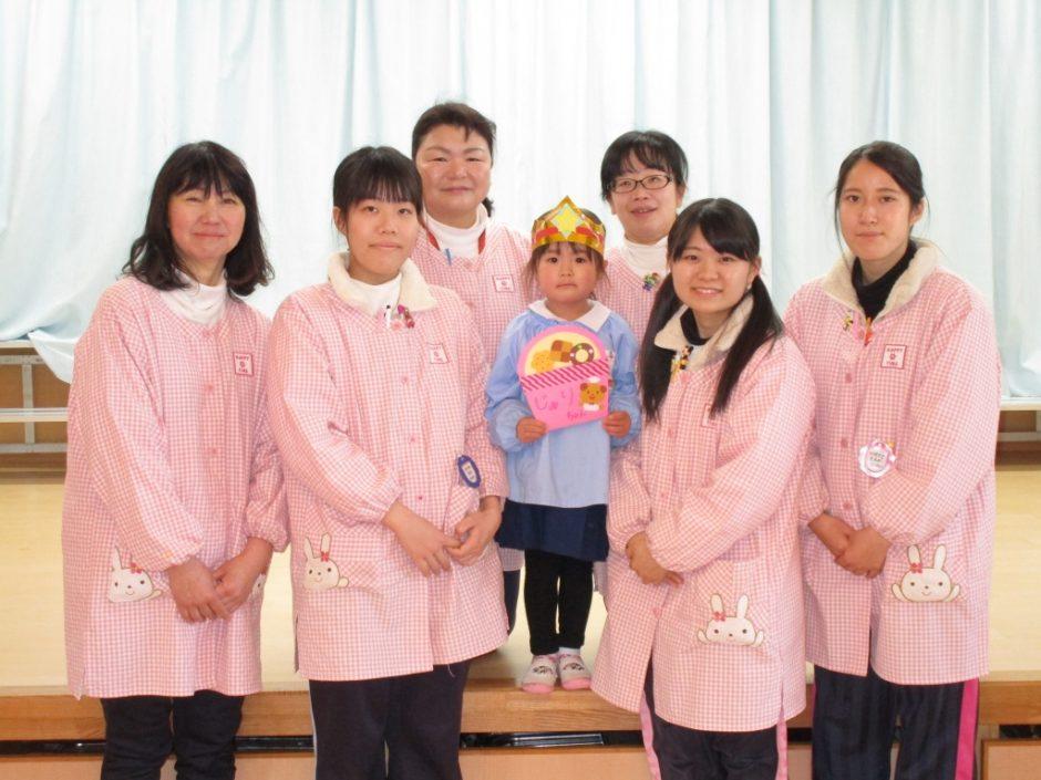 2月 お誕生会 年少さんは もも組のじゅりちゃんでした(^^)/