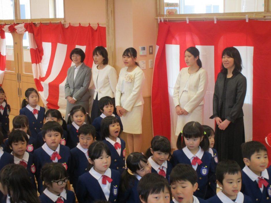 平成29年度 終業式 上手に歌って 先生も嬉しいです(^^)