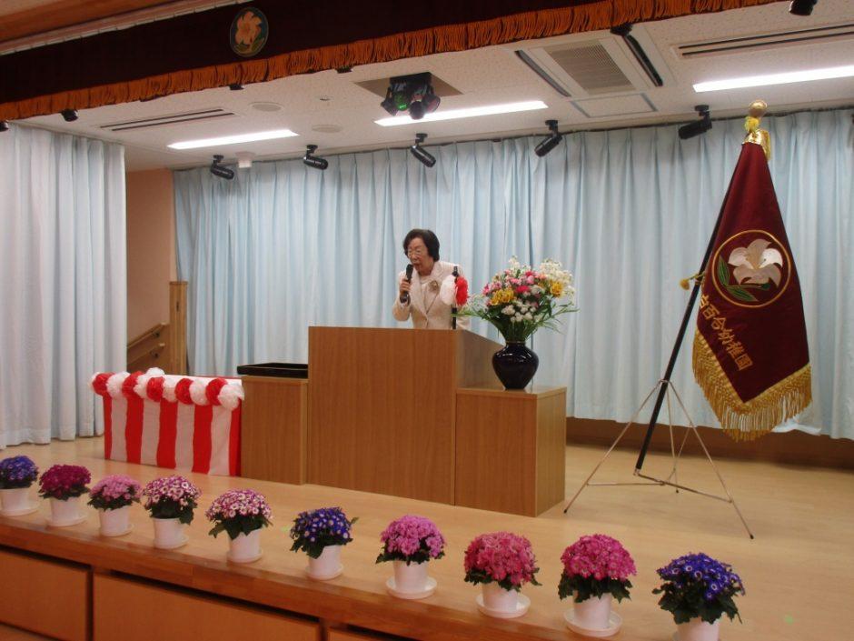 平成29年度 終業式 園長先生は これからも見守ってくださいます。