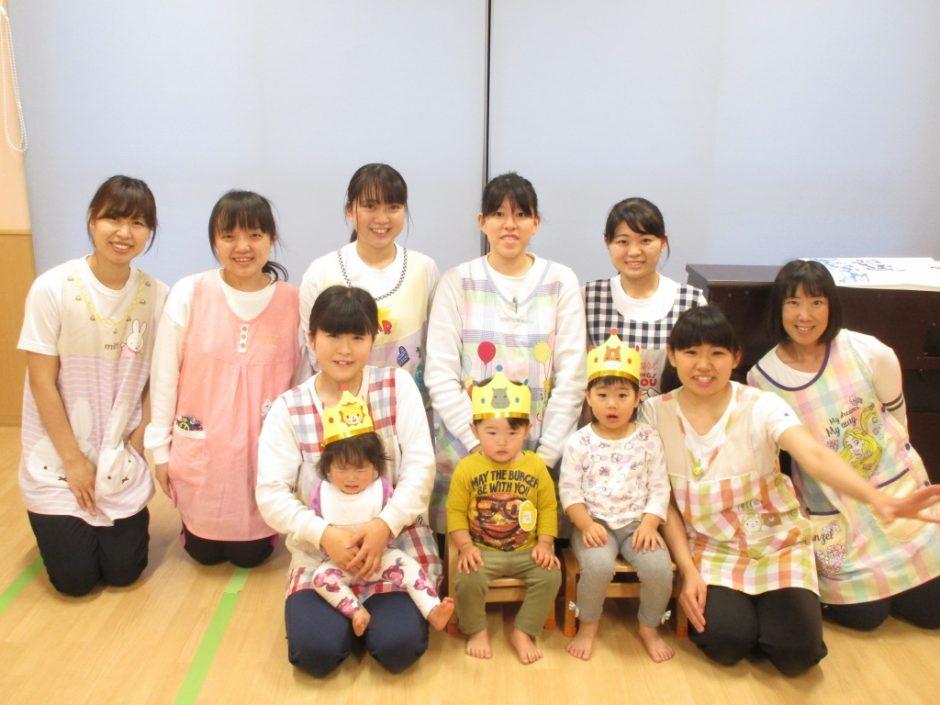 4月 お誕生会 保育園部のみんなもおめでとう!!