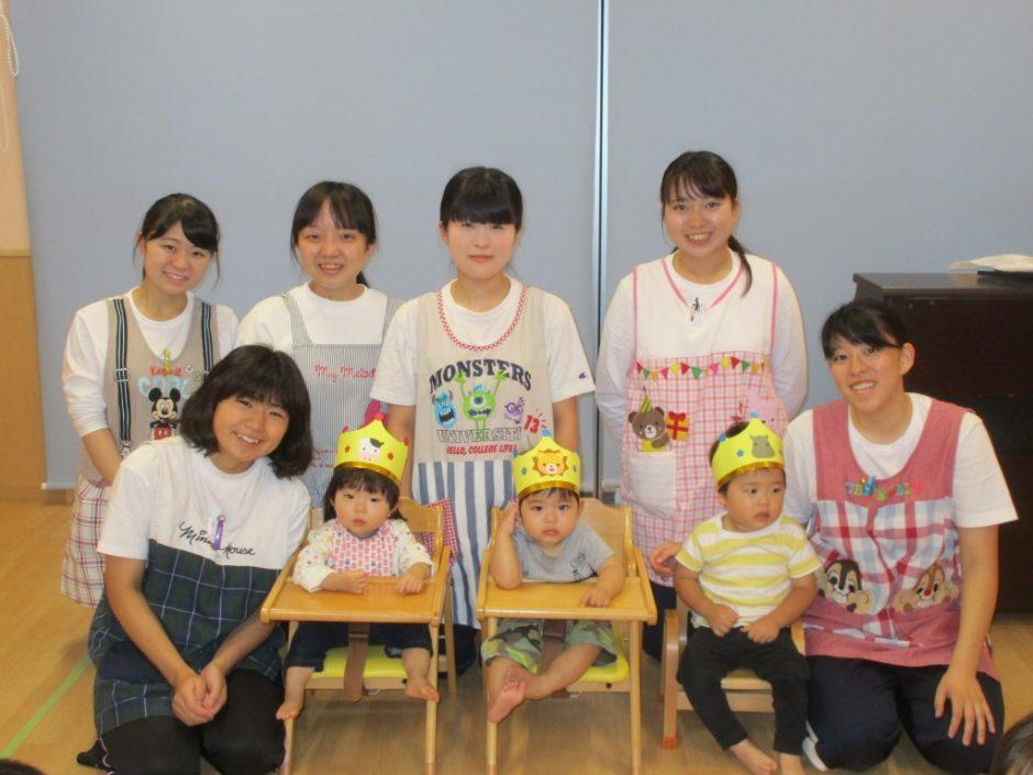 6月 お誕生会 保育園部のお友達おめでとう!はいチーズ(^^)
