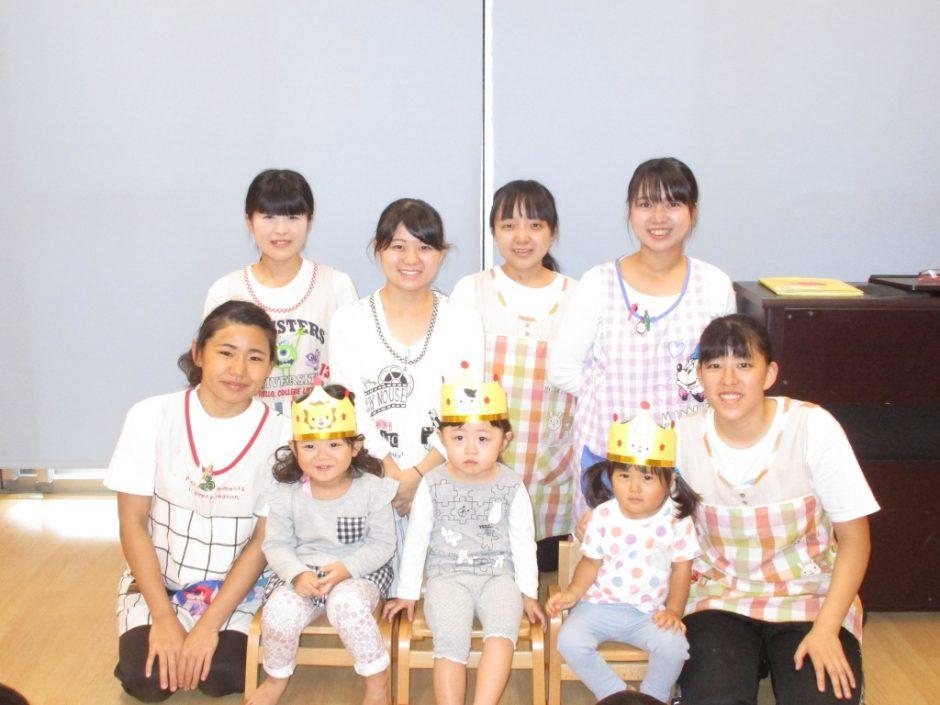 10月 お誕生会 保育園部は3人のお友達がお誕生日でした(^^)