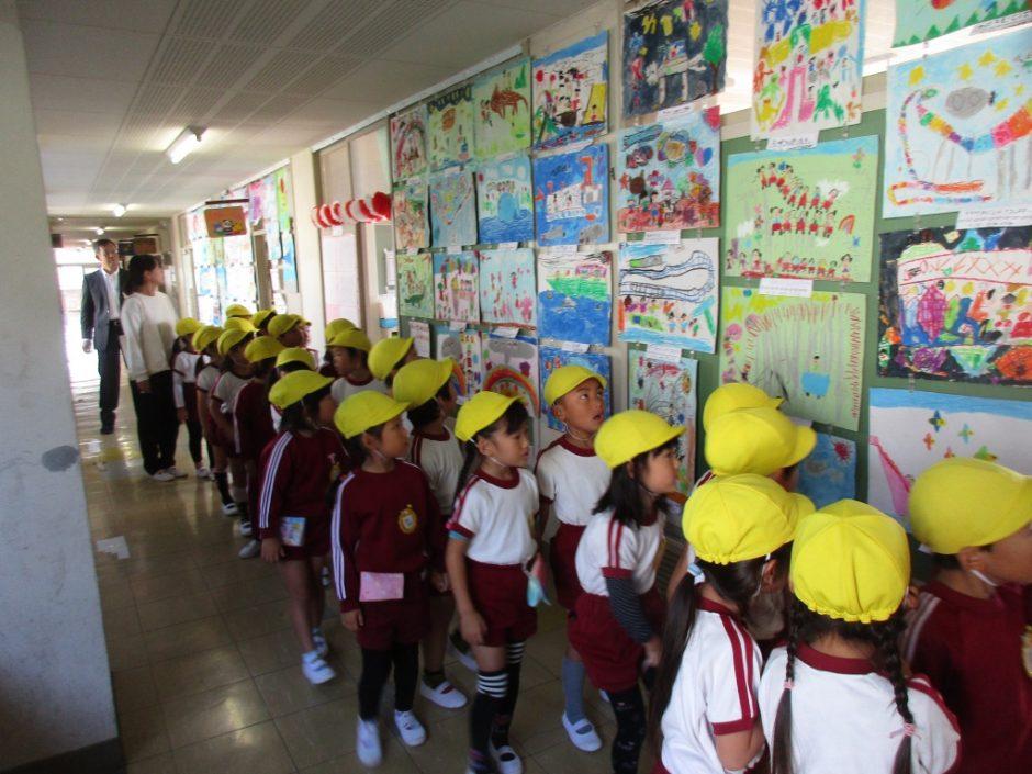 新町小学校交流会 年長さんのお友達が新町小学校へおじゃましました!