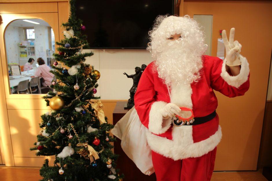 保育園部さんのところにも・・・ 任務完了サンタさん!!保育園部さんもみんないい子なのでお家にもプレゼントを届けてださいね★