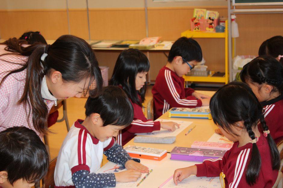 年長さん 英語・わくわく公開保育 小学校に向けてしっかり学びます☆