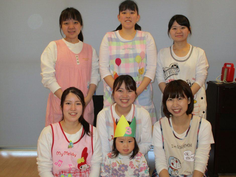 5月 お誕生会 保育園部は1人のお友達がお誕生日でした(^^)