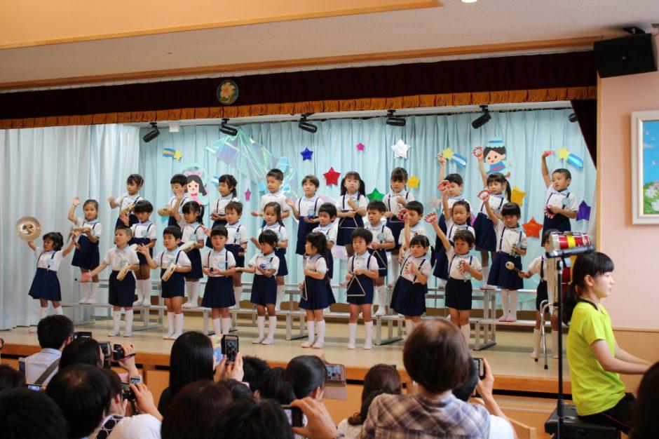 七夕お楽しみ会 午後の部 ゆり組さん合奏「オブラディ・オブラダ」