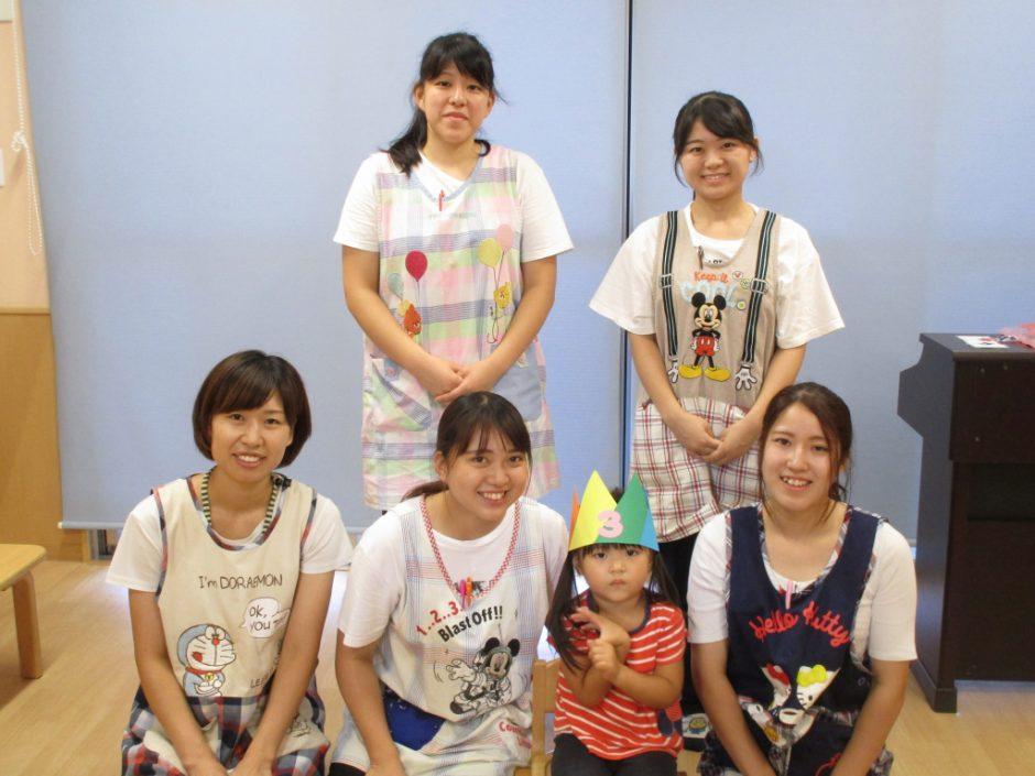 9月 お誕生会♪ 保育園部はひばり組のすずちゃん☆彡おめでとう!