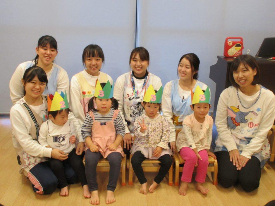11月 お誕生会 保育園部さんは4人のお友達です(*^-^*)