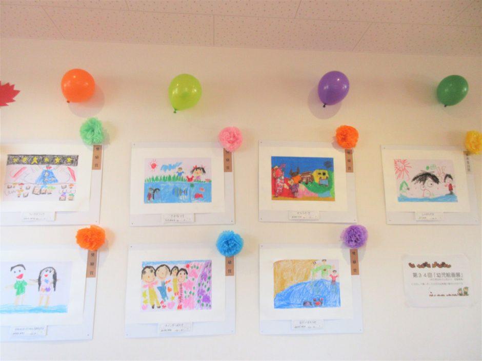 作品展② 幼児絵画展に出展した作品も展示されました。丁寧に描かれていてとっても上手です。