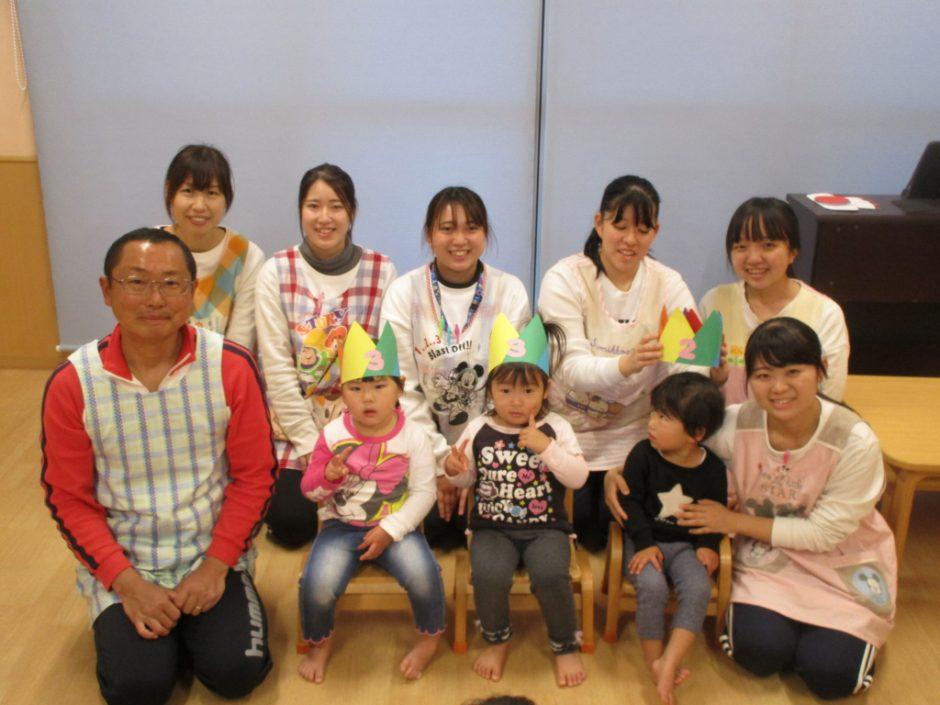 12月 お誕生会 保育園部さん、12月生まれのお友達です(*´▽`*)