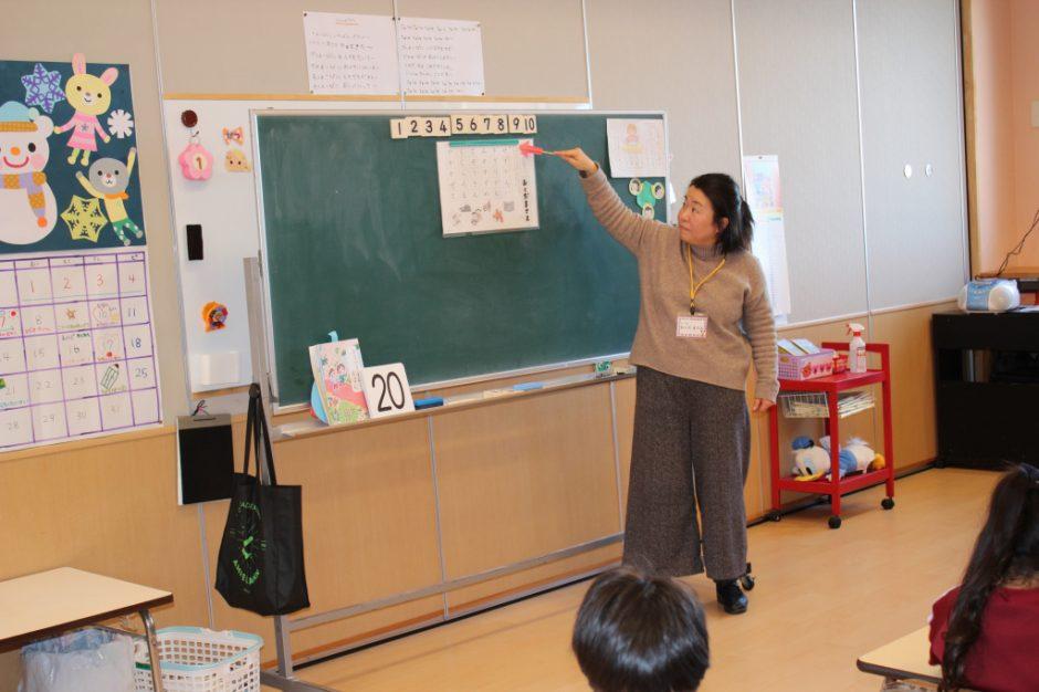 年長さん 英語・わくわく公開 ひらがなと数字、たくさん学んできましたね(*^^)v