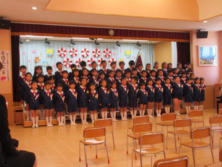 令和元年度 卒園式 年長さんの歌の発表「さよならぼくたちのようちえん」、感動的でした!