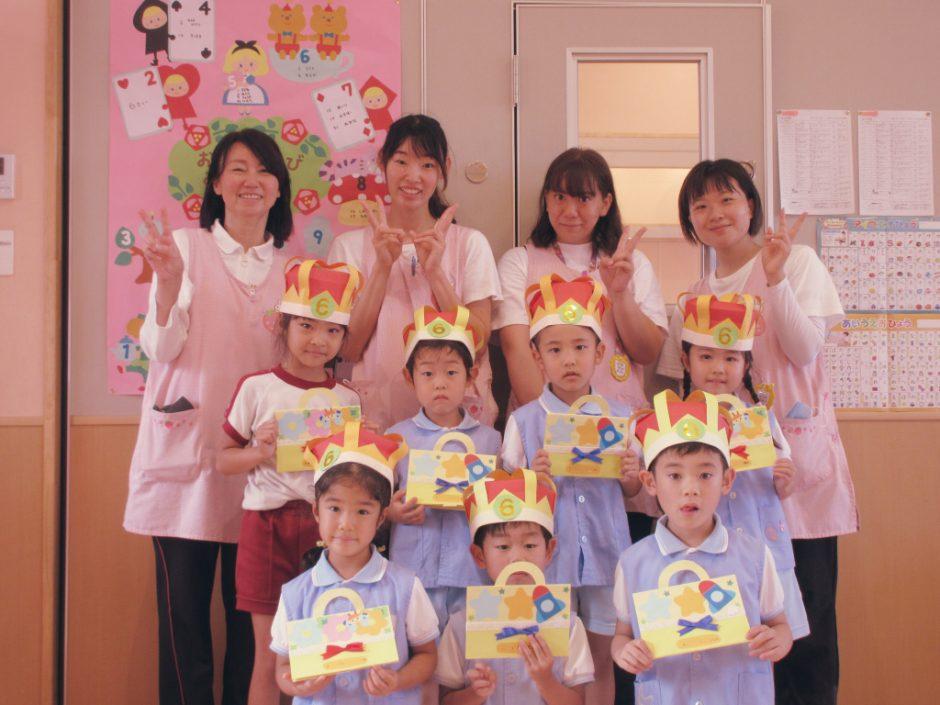 4月・5月・6月 お誕生会 次はばら組さん。きらきらの笑顔が素敵ですね(*^^*)