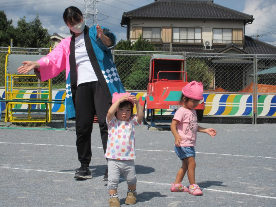 【保育園部】夏祭りを行いました☆彡 暑いけど、みんな元気(*´▽`*)一気に夏祭り気分が高まります!