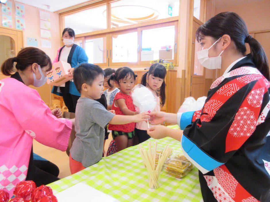 【保育園部】夏祭りを行いました☆彡 くじを引いて先生たち手作りのお店でお買い物( *´艸`)