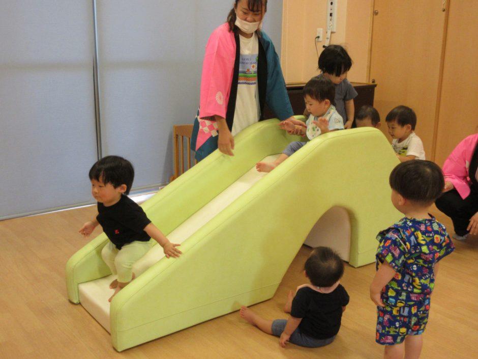 【保育園部】夏祭りを行いました☆彡 トンネルくぐりやおやまもあって、みんな大興奮(≧▽≦)