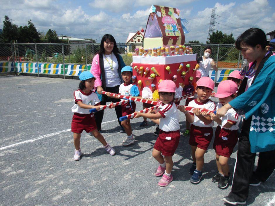 【幼稚園部】8/28に夏祭りを行いました♪ ゆり組さんもさくら組さんも、すごくキマっています!