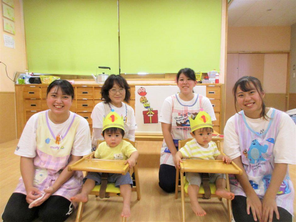 9月 お誕生会 保育園部さんは2人のお祝いです(≧▽≦)