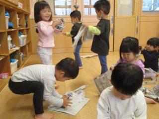 新聞紙遊び!!