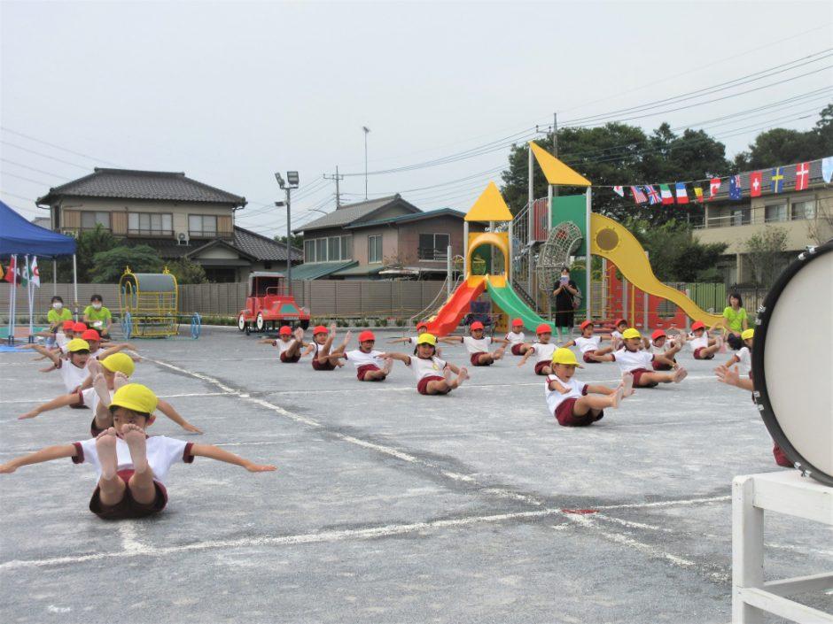 幼稚園部 運動会 年長さんの組体操です! ビシっととてもきれいですね☆彡