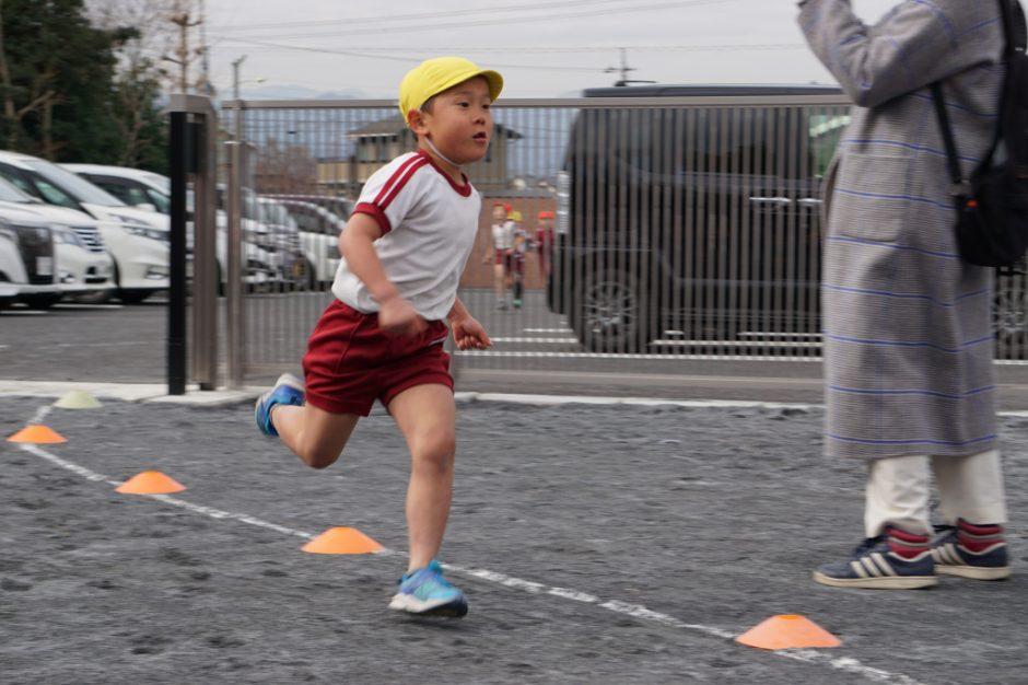 マラソン大会 年長さん男の子1番です! 走る姿素敵ですね☆彡
