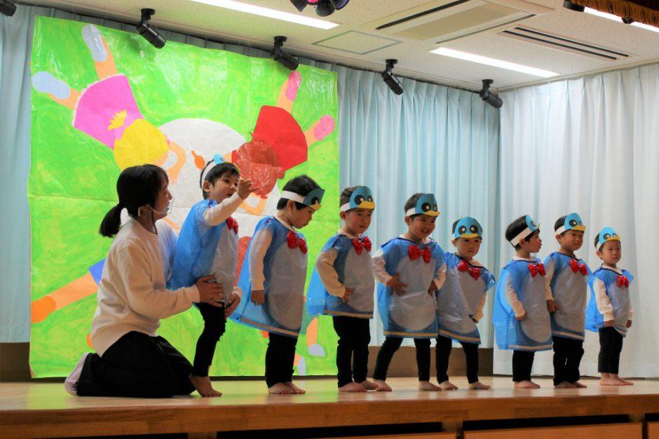 ひな祭りお遊戯会 保育園部 ひばり組さん 「ロケットペンギン」