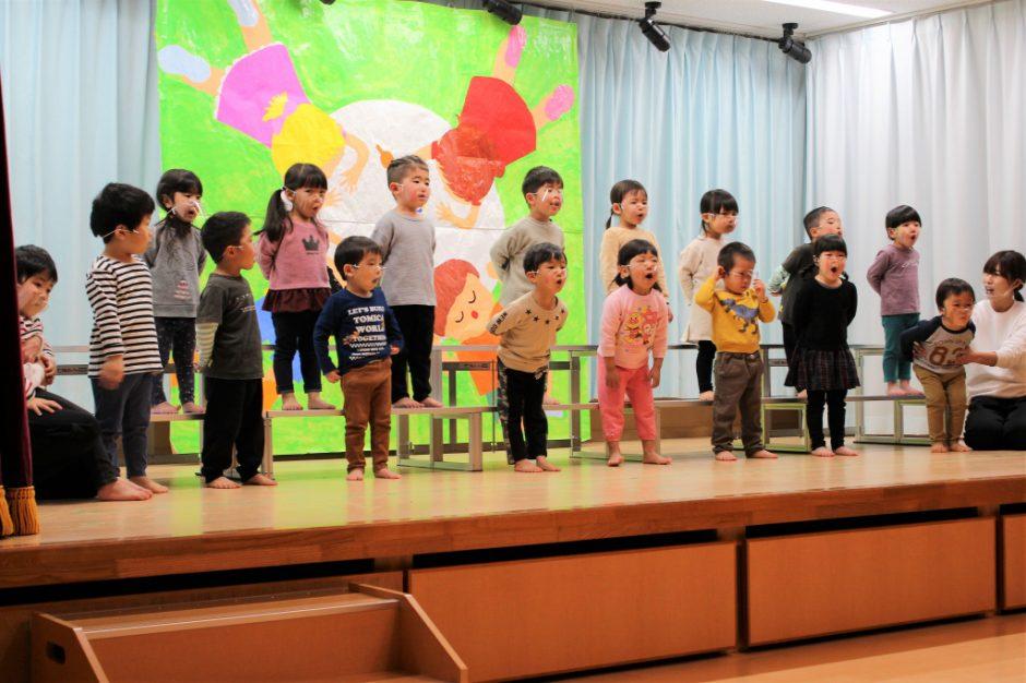 ひな祭りお遊戯会 保育園部 ひばり組さんのうた 「ゆきのペンキやさん」