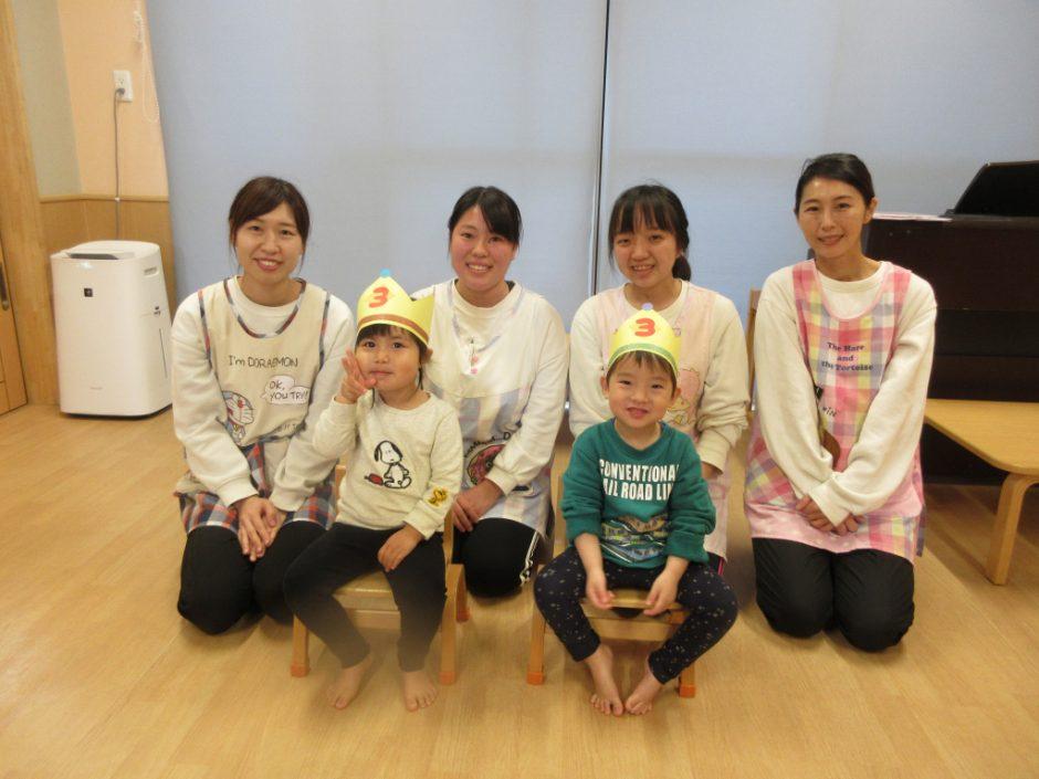 3月 お誕生日会 ひばり組さんは2名のお友達です♪