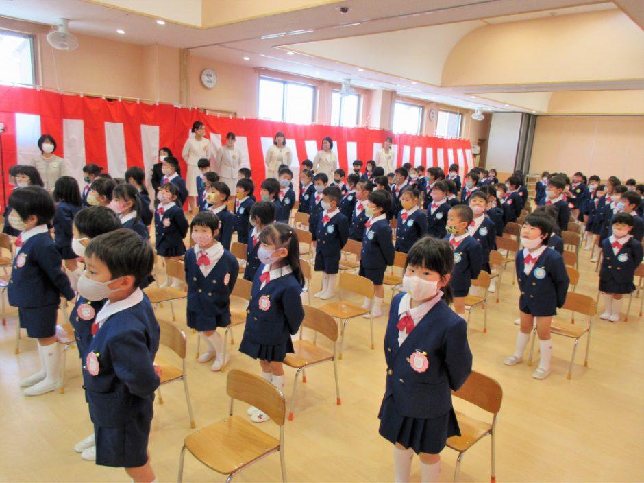 始業式 進級おめでとう☆彡 年中さん年長さんらしく頼もしい姿をみることができました!