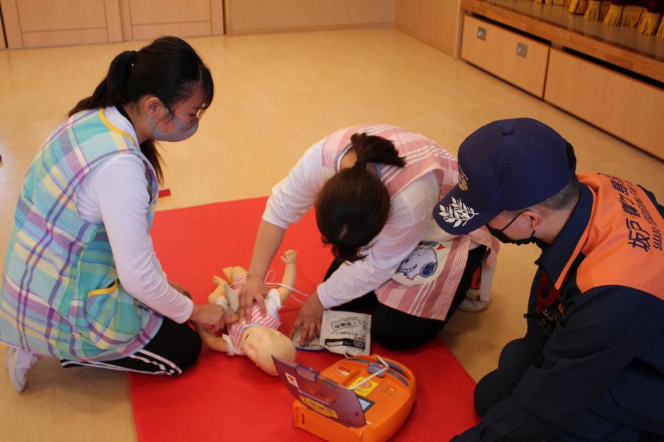 救急講習 今年も大きな怪我や事故がないよう職員一同気をつけていきます。